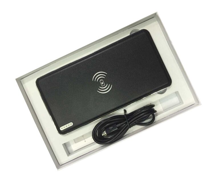Hot Selling QI 10000 mAh Wireless Power Bank For Iphone Android
