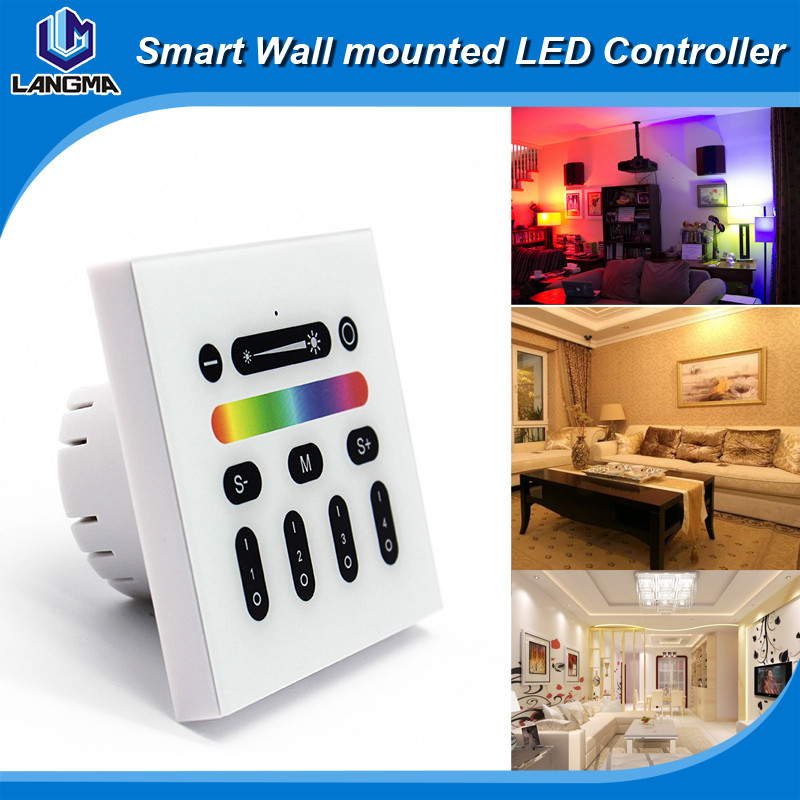 DC12-24V RGB Touch Controller RGB LED Touch Controller Manual,Wall Mounted Touch Panel RGB LED Controller,