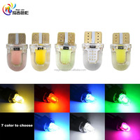 New Type Silicones 8 SMD High Power COB T10 LED 194 168 W5W led Side License Plate Light Lamp Bulb