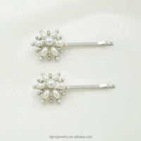 classic style bobby pin silver pearl hair accessories