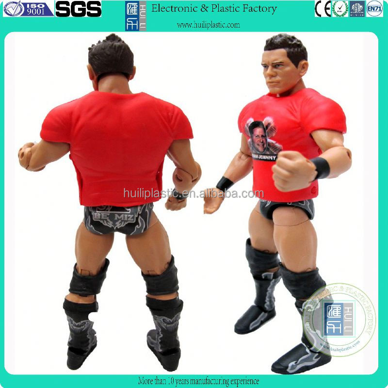 lifi-like plastic custom action figure, custom articulated plastic movable action figure, sports action figure wrestling