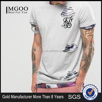 High Quality Men Streetwear T shirts Distressed Short sleeve Urban Clothing Oversized T shirts Logo Print Custom