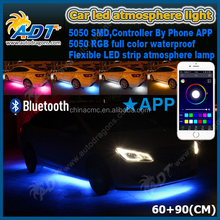 RGB APP Control Flexible Waterproof Under Car Bulb Kits Auto LED Strip Light