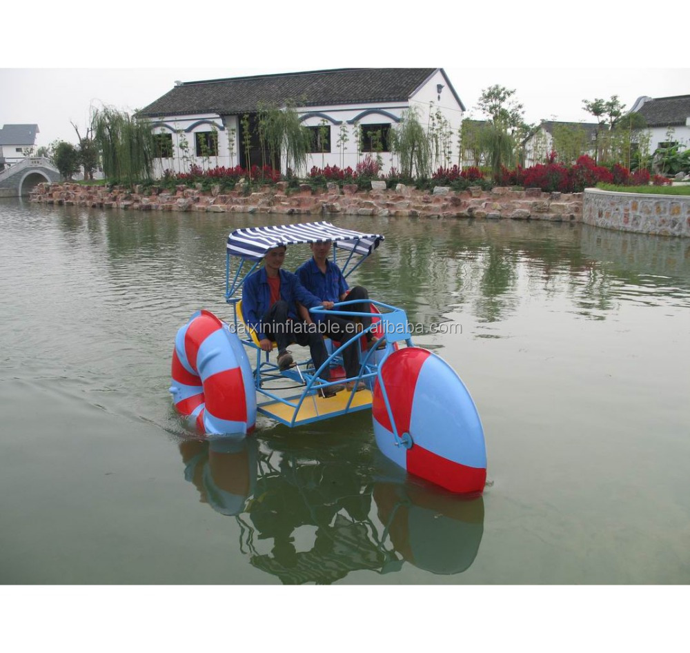 Water Park adult Water Tricycle Sports Equipment 3 Big Wheels Tricycle Bike amusement park aquatic bike tricycle