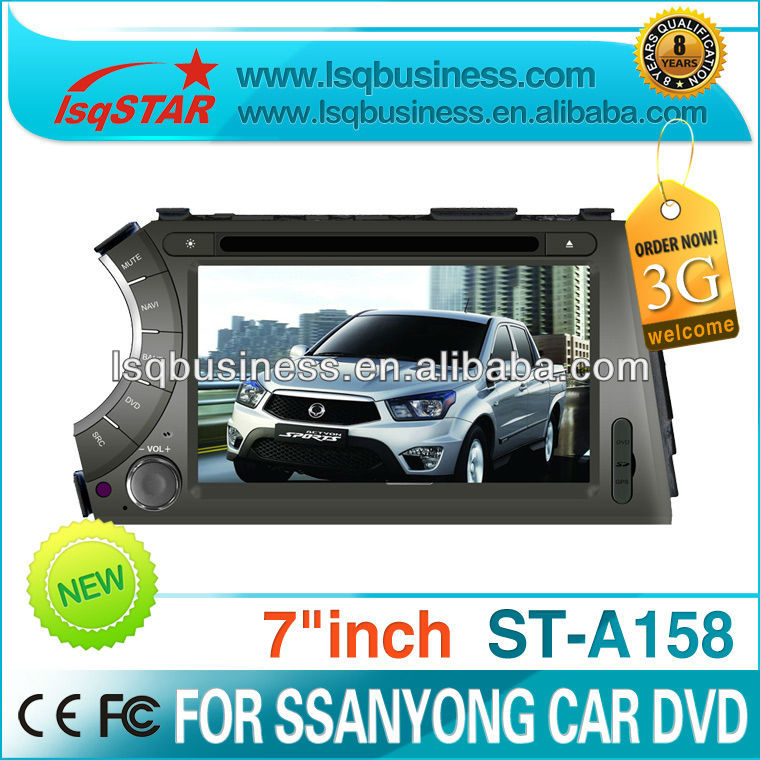 Car accessories for Ssangyong Kyron parts with car media player GPS 3G MP4 radio fm ipod MP3 player car dvd player,ST-A158