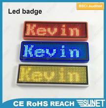 LED Moving message Display Sign custom lapel pins no minimum
