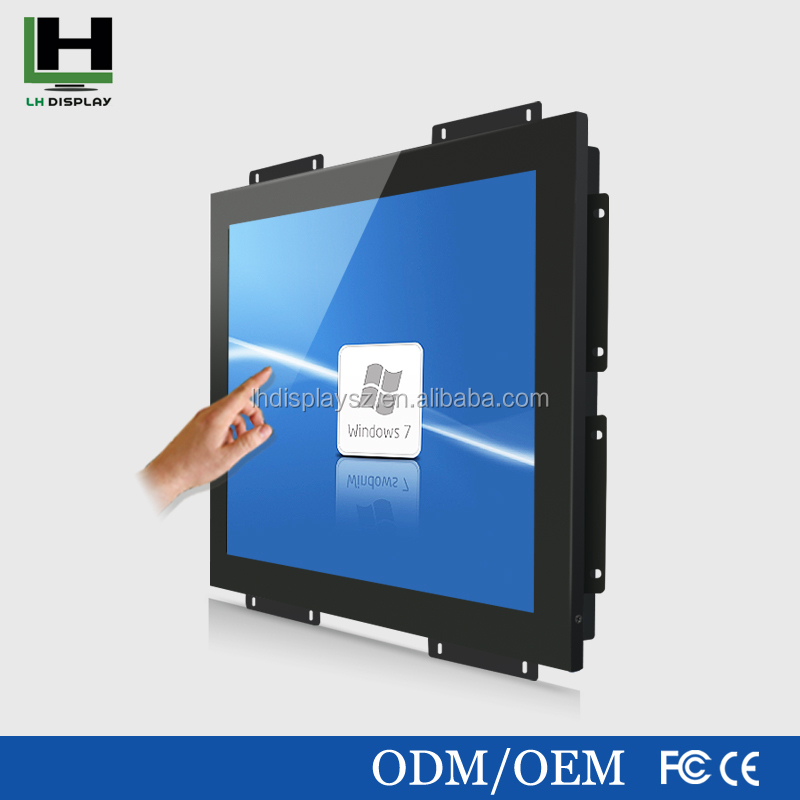 17 Inch Metal Shell Open Frame Touch Screen Monitor lcd image reverse lcd monitor