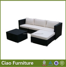 Round wicker colonial style rattan sofa sets