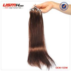 top quality stock straight 100% virgin remy human micro braiding hair