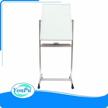 Portable Glass smart board finger writing interactive whiteboard school chalk write green board with mobile stand