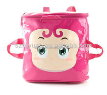 glossy pvc cartoon print kindergarten school bag
