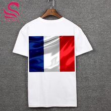 Russia's 2018 football World Cup fans equipped French fans dedicated t-shirts French country flag shirt