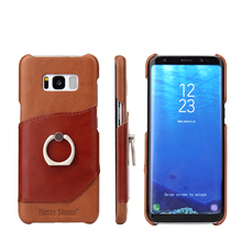With ring buckle support phone back shell for samsung galaxy s8 plus case