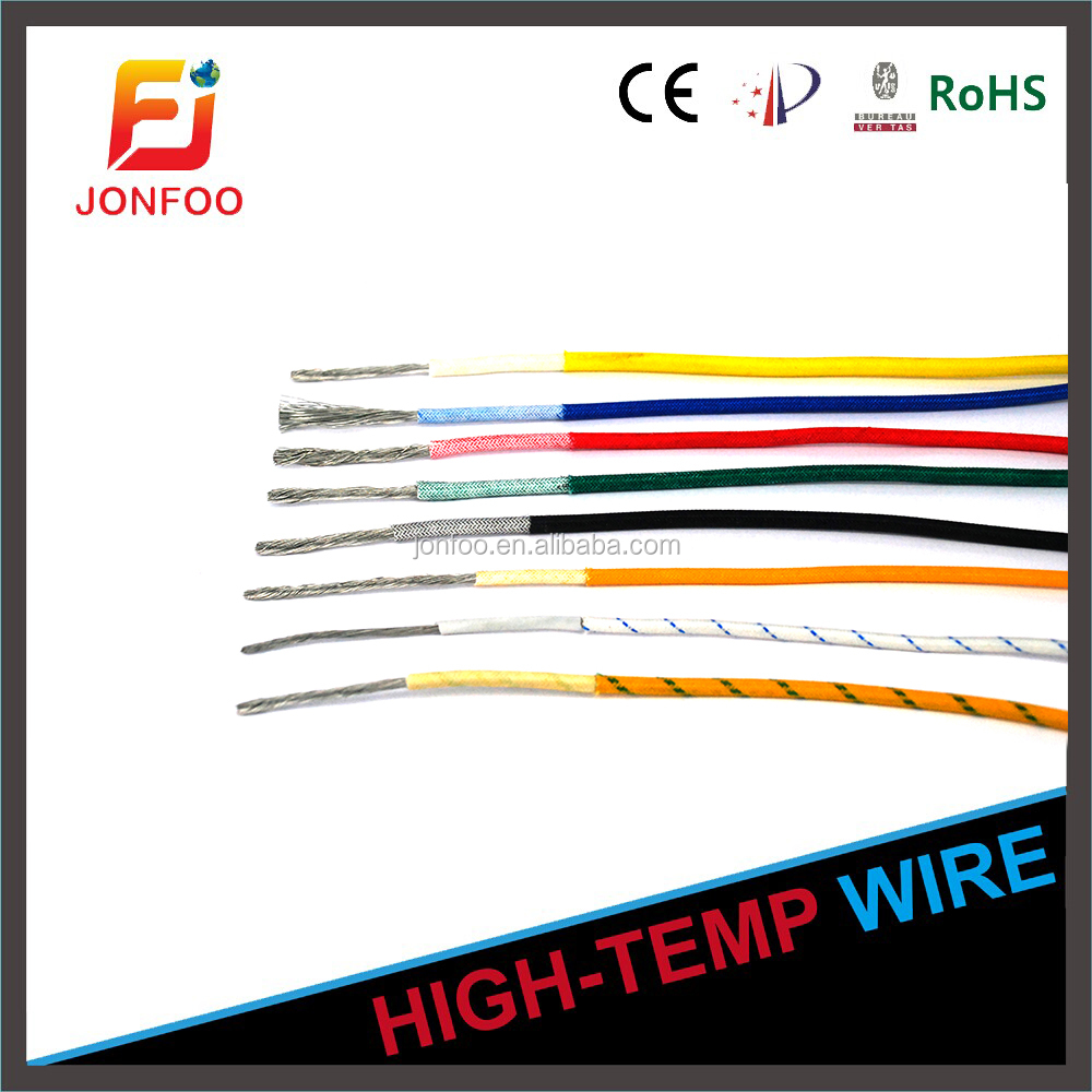 Silicone fiberglass wire and cable UL3122 16 18 20 22 24 26 AWG