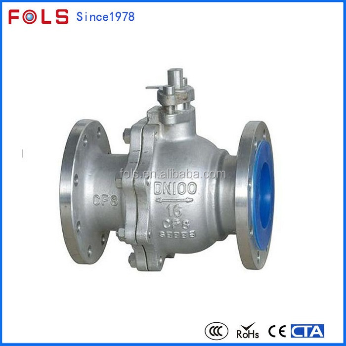 electric automatic flange connection soft seat PTFE seat acid resistant ball valve