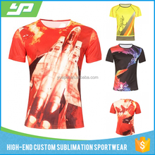 Wholesale custom design digital printing t shirts all over sublimation t shirt printing