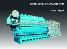 2500kW 600RPM China Guangchai HFO Genset
