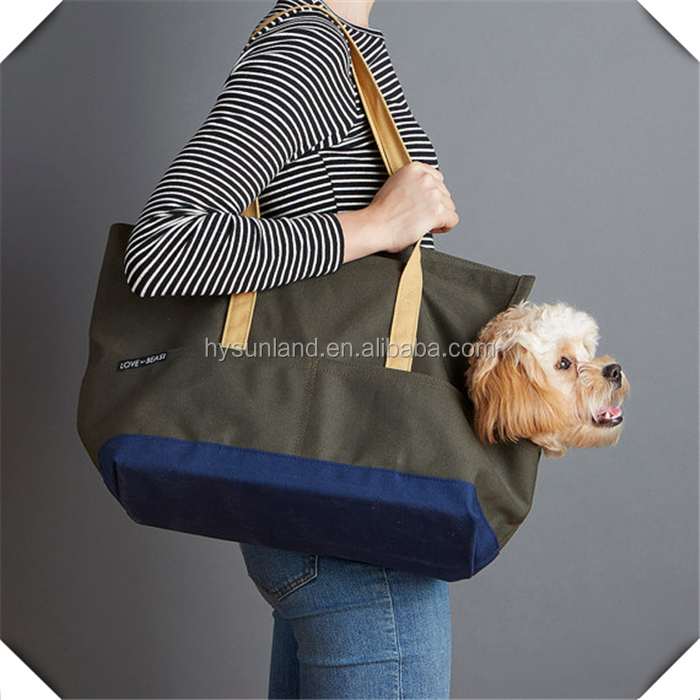 Hot sale fashionable Pet sling jogging pockets mixed jeans blue dog carrier bags