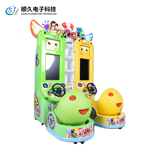 Hot sale coin operated kiddie car racing equipment Baby Speeds Up driving simulator car racing game machine