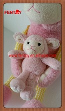 Animal adventure plush pink alive lamb sheep with baby stuffed animals for easter day