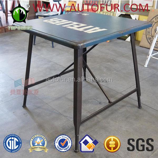 금속 빈티지 식탁 광장 트레이 테이블-금속 의자 -상품 ID ...