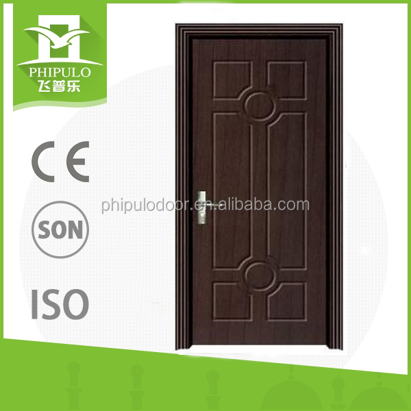 hot sale cheap single steel wood door security door for building project