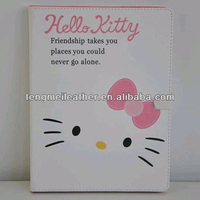 Hello Kitty Leather Wallet Stand Case Cover For Ipad 2/3/4,Girl Cute Case for ipad 2/3/4