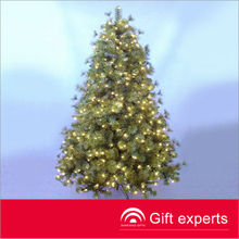7.5FT MIXED NOBLE FIR TREE ,600 Clear Lights,led lighted willow christmas tree