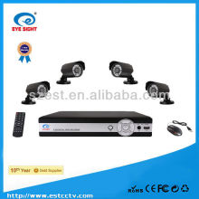 H.264 waterproof home security 4ch dvr kit