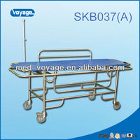 SKB037(A) Stainless Steel Patient Transfer Medical Strecher Bed