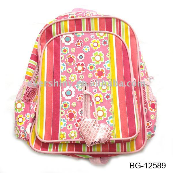 mix style hot seller 2011 latest fashion school bag yiwu for teenagers with adjustable webbing shoulder strap