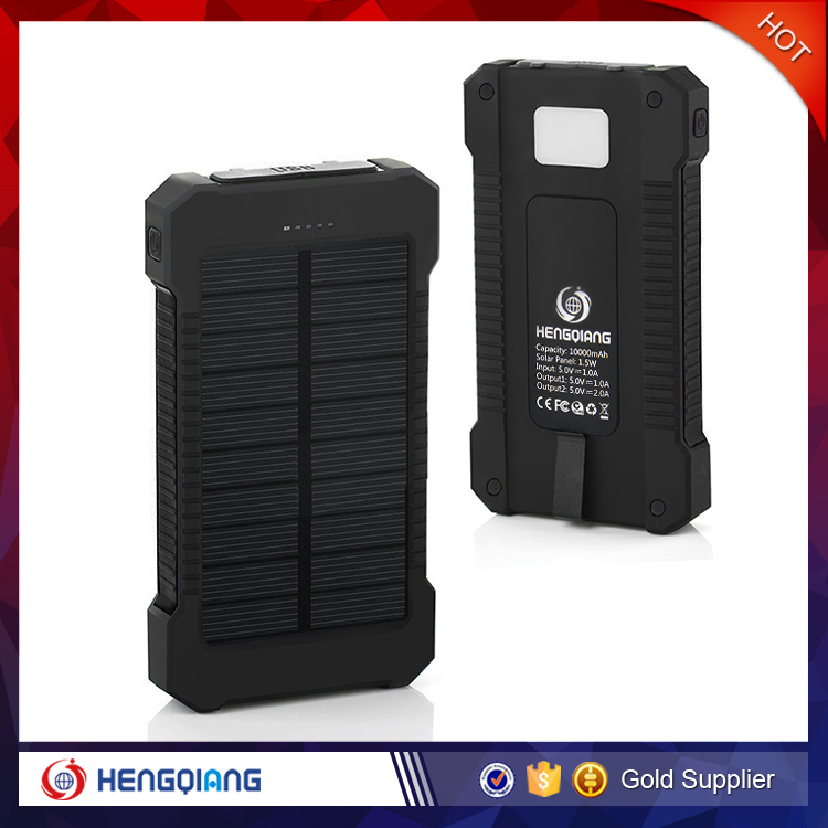 Solar Power Bank Waterproof 10000mah, Power Bank with solar energy