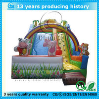 cute kids inflatable cartoon slide/children cartoon slide