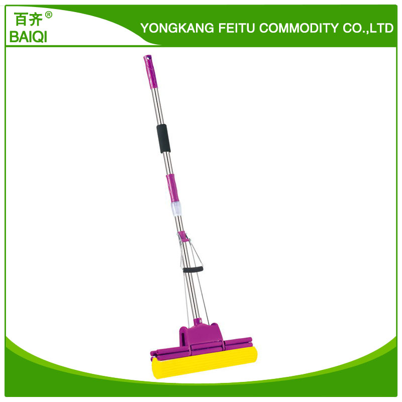 Eco-friendly feature telescopic long handle cleaning sweeper PVA mop