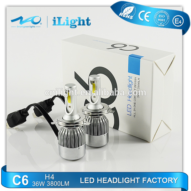 Factory led headlight hid kit H1 H3 H4 H7 H13 China wholesale 36w h4 led canbus OEM design