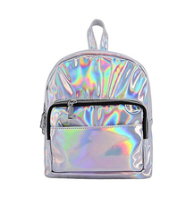 Hologram Laser Pu Leather Mini Backpack School Bag