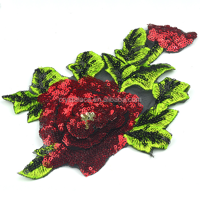 <strong>Iron</strong> on spangle pacth, embroidery sequins paillette flower patches for garments