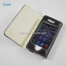 handmade flip leather case cover purse pouch phone for iphone 4 4s black
