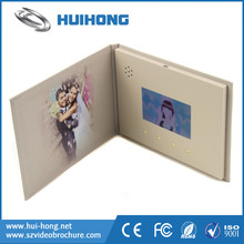 Custom high quality lcd wedding album video wedding invitation