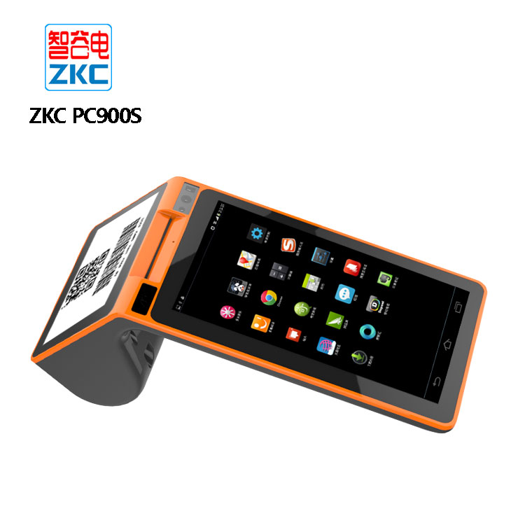 Handheld mobile pos 3g printer android , customer display pos terminal with 2d barcode scanner NFC reader 3G