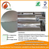 Aluminum foil laminated fiberglass air conditioning duct insulation