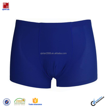 Mens Dark Blue Plian Seamless Easy Translucent Underwear Boxer