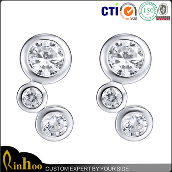 Wholesale cheap hot selling high quality fashion real silver earring