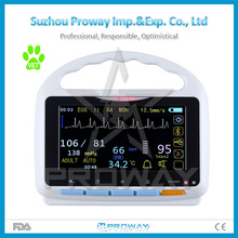 Portable Vital Sign Monitor Veterinary Patient Monitor Price with 5 Para for Animals