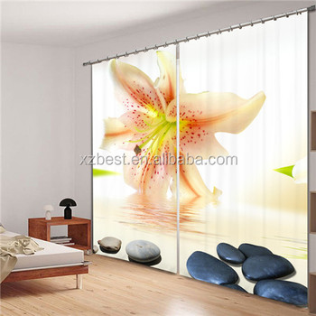 Polyester 3d digital photo print curtains