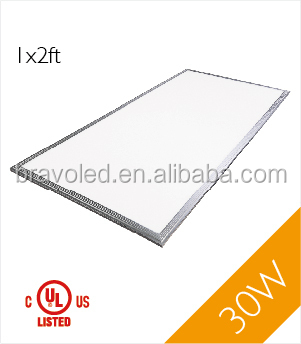 ETL/UL/DLC 30W led flat panel light 1 by 4 ft 0-10V dimming