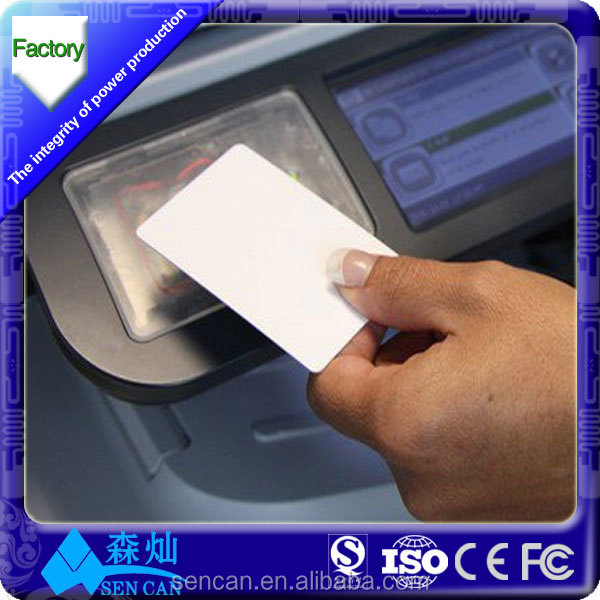 High quality instant pvc card blank pvc id card size cr80