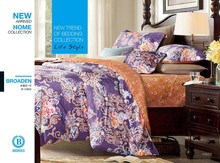 low moq 200TC cotton satin printed western bedding wholesale