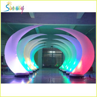 Shiny LED inflatable ivory, lighted tusk for party or advertising