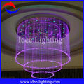 LED fiber optic crystal chandelier light for hotel/shopping mall decoration